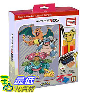 [106 美國直購] RDS Industries Nintendo 3DS XL Game Traveler Essentials Pack - Pokemon Group with Pikachu Stylus