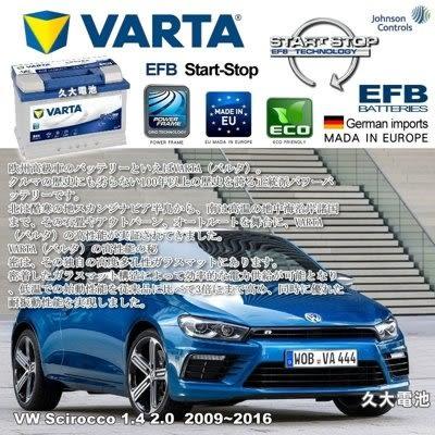 ✚久大電池❚ 德國進口 VARTA E45 EFB 70Ah VW Scirocco 1.4 2.0 2009~2016