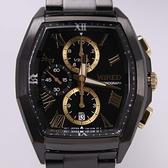 【萬年鐘錶】WIRED 耶誕限定款 多邊型 三眼多功能計時碼錶  IP電鍍黑 7T92-0TV0SD (AGAV797J)