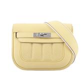 【HERMES】銀釦 Mini Berline Swift 皮多用包(小雞黃) H069428CK1Z HE14000020