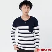 BOBSON 男款條紋上衣 (37013-53)