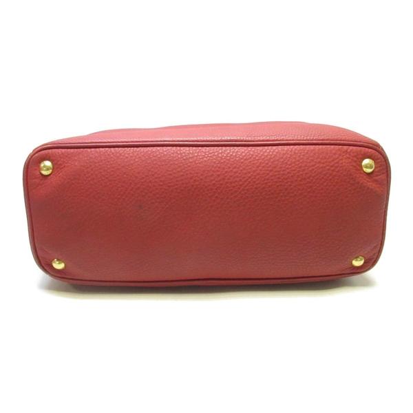 PRADA 普拉達 紅色牛皮手提包 【二手名牌BRAND OFF】