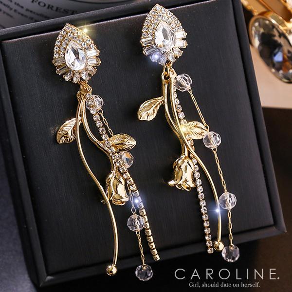 《Caroline》★韓國熱賣造型時尚 高貴典雅設計耳環71239