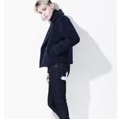 毛呢大衣-韓版風格雙排扣子短款男外套1色72e33[巴黎精品】