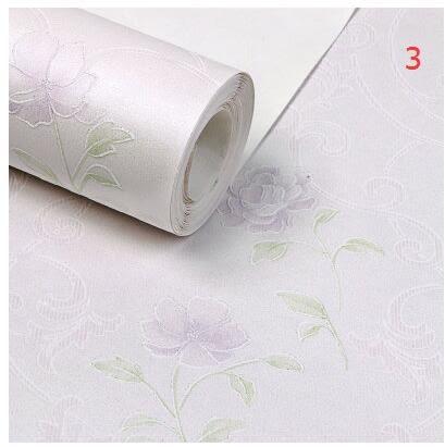 夏洛克3D立體小碎花環保無紡布壁紙臥室床頭背景牆牆紙浪漫溫馨