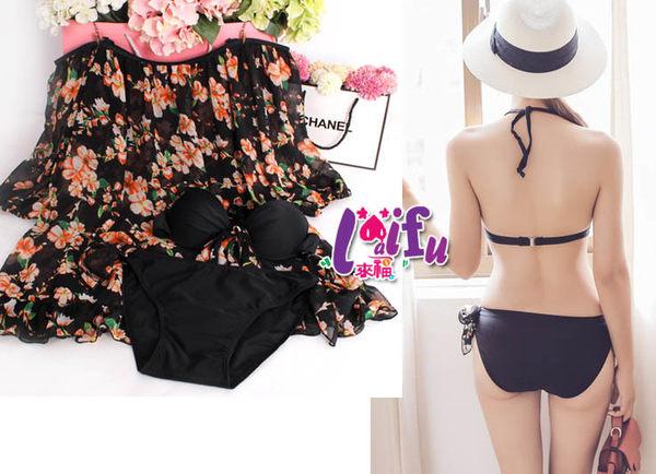 得來福泳衣,G175泳衣月光微透露肩三件式泳衣游泳衣泳裝比基尼加大泳衣正品,售價950元