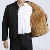 羽絨棉外套男裝加絨加厚中老年棉衣男士外套冬季中年小棉襖父親裝棉服秋冬款