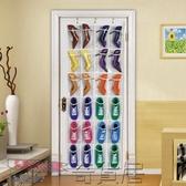 24格門后收納袋掛袋創意墻上立體透明收納儲物袋門后鞋掛袋