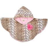 美國人造毛皮連帽披風外套: 粉雪豹: SPFP-12