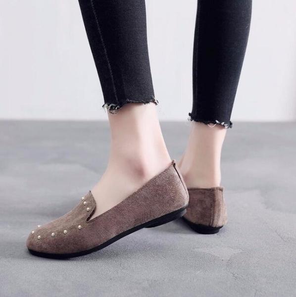豆豆鞋-新款 布鞋女鞋平底軟底豆豆鞋單鞋時尚舒適孕婦鞋黑色工作鞋 東川崎町