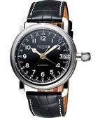LONGINES 浪琴 Heritage Military 1938軍用24小時機械腕錶/手錶-黑 L27784532