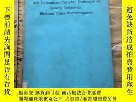 二手書博民逛書店1986罕見International Carnahan Conference on Security Techn