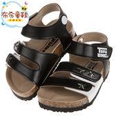 《布布童鞋》TOPUONE黑色小紳士歐風兒童氣墊涼鞋(13~19公分) [ C8D318D ]