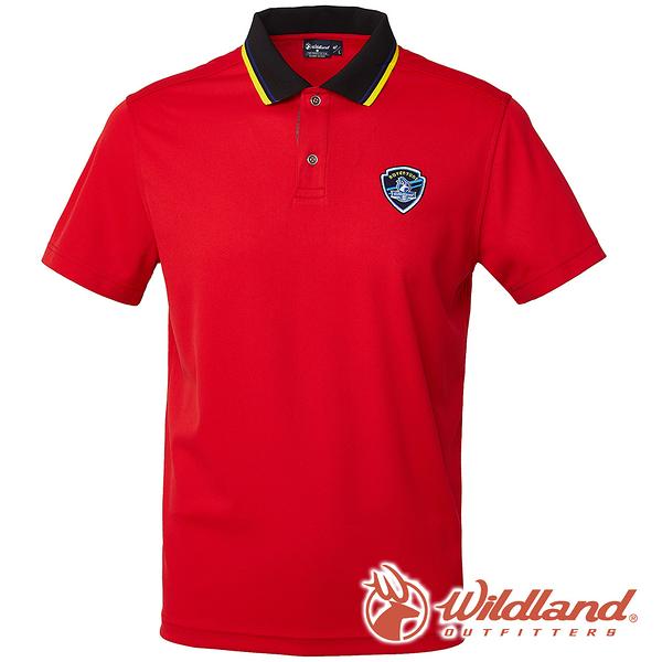 【wildland 荒野】男 COOLMAX 抗UV排汗YOKE衣-紅色 0A61616 POLO衫 吸濕 排汗 抗紫外線