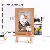 韓式可愛貓咪擺台相框 創意兒童卡通相片框臥室客廳6寸木紋像框  遇見生活