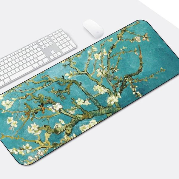 游戲超大滑鼠墊鎖邊中國風加厚可愛蘭亭序勵志筆記本電腦辦公桌墊 快速出貨 免運費