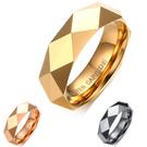 《 QBOX 》FASHION 飾品【RTCR-033】精緻個性簡約棱形切面鎢鋼戒指/戒環(三色)