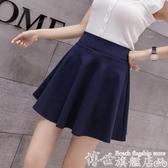 短裙 百摺裙短裙女夏季高腰A字半身裙黑色學生半裙白色bm裙子 博世