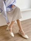 瑪麗珍鞋 淑女風晚晚鞋2021年春新款粗跟百搭復古瑪麗珍鞋溫柔仙女風單鞋潮 歐歐