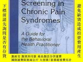 二手書博民逛書店Presurgical罕見Psychological Screening in Chronic Pain Synd