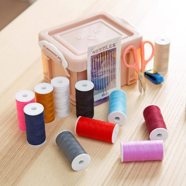 [超豐國際]縫補工具套裝縫紉針線盒15件套 家用針線縫衣針線包收