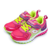 LIKA夢 LOTTO 透氣避震慢跑鞋 活力酷炫系列 粉綠紫 3633 大童