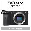 Sony a6600 單機身 ILCE-6600 微單 4K錄影 公司貨【原廠禮~5/9+24期零利率】 薪創數位