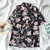 花襯衫 短袖碎花襯衫女復古港味ins風設計感小眾洋氣上衣夏季 交換禮物