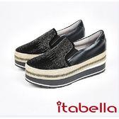 ★2017秋冬新品★itabella.漸層水鑽厚底懶人包鞋(7563-90黑)