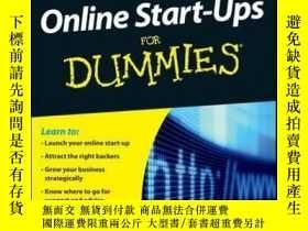 二手書博民逛書店Successful罕見Online Start-Ups For Dummies, Australia and N