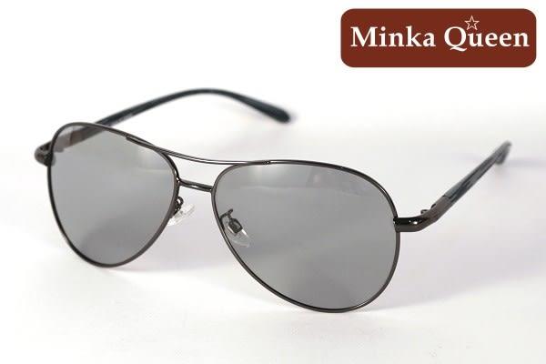 Minka Queen 太陽的後裔 帥氣黑框激似款(抗UV400鏡片)時尚個性雷朋偏光微變色太陽眼鏡