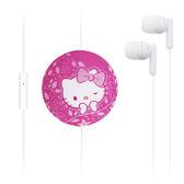 秋奇啊喀3C配件-GARMMA Hello Kitty 伸縮耳機麥克風-俏麗桃