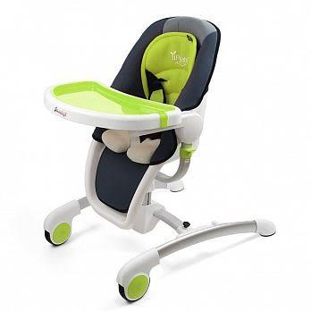 YIP BABY 時尚豪華兒童餐椅(橘/綠)