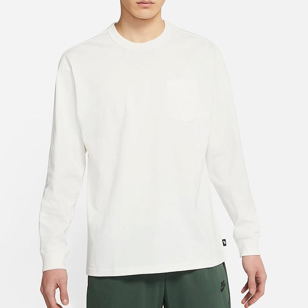 Nike SPORTSWEAR 男裝 長袖 大學T 休閒 口袋 白【運動世界】DD3875-133