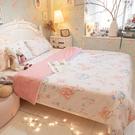 樂園氣球兔 Q3 雙人加大床包與雙人兩用被四件組 100%精梳棉 台灣製 棉床本舖