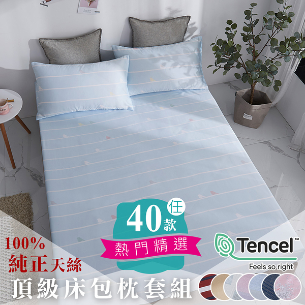 【BEST寢飾】100%天絲床包枕套組 特大6x7尺 king size 40支天絲 床單 床包 枕套 萊賽爾 附正天絲吊牌 U1
