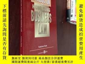 二手書博民逛書店AN罕見INTRODUCTION TO HONG KONG BUSINESS LAWY12880 VANESS