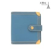 【巴黎站二手名牌專賣店】*現貨*LV 路易威登 真品*M91829 SUHALI系列藍色山羊皮釦式短夾/錢包