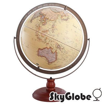 【SkyGlobe】17吋超大古典雙環立體浮雕地球儀-大件商品請選宅配運送