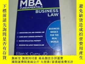 二手書博民逛書店MBA罕見FUNDAMENTALS BUSINESS LAWY2