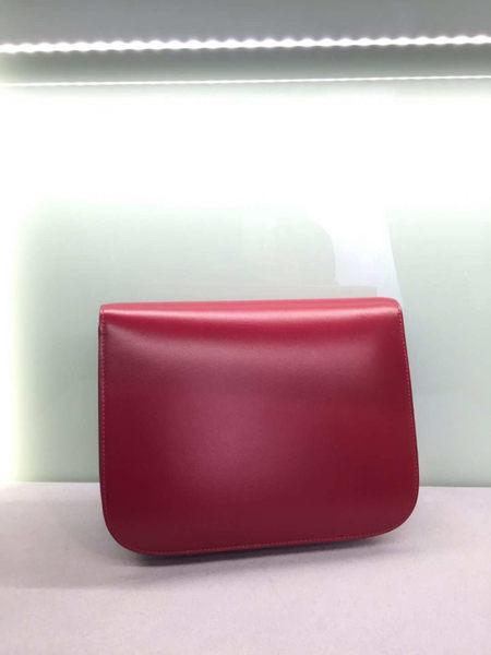 ■專櫃84折■Celine 189173 中款 頂級小牛皮CLASSIC BOX 手袋 紅色