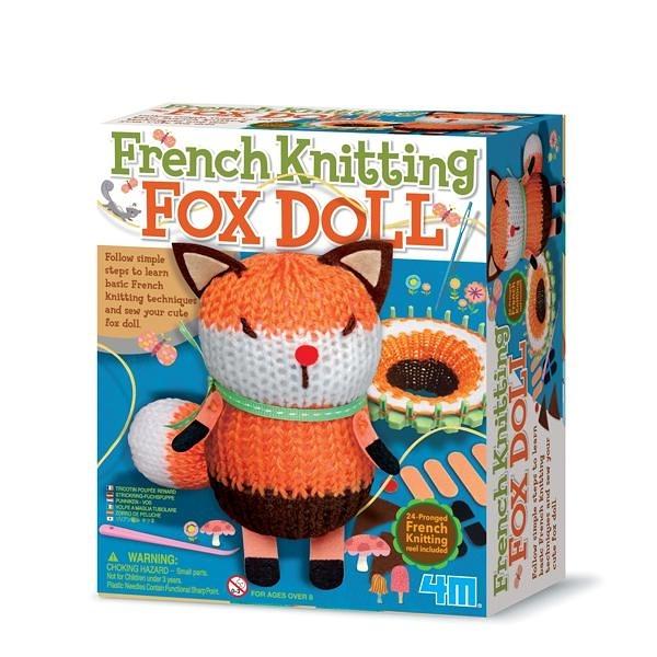 【4M】04682 美勞創作-編織小狐狸娃娃 French Knitting Fox Doll
