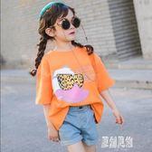 女童半袖T恤洋氣2019新款夏裝韓版兒童短袖上衣小女孩寬鬆打底衫xy1257【原創風館】