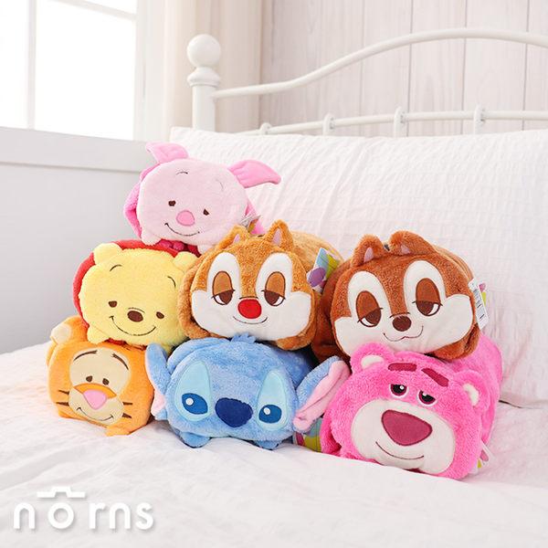 【迪士尼造型捲毯 趴姿】Norns 冷氣毯 懶人毯 披肩 溫暖毛毯 Disney正版授權 維尼 史迪奇 熊抱哥