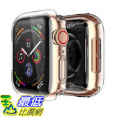 [8美國直購] 保護套 Smiling Clear Case for Apple Watch Series 4 & Series5 44mm with Buit in TPU Screen Protector B07JYV9WB4