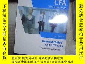 二手書博民逛書店2017罕見LEVEL II CFA BOOK 4 FIXED INCOME AND DERIVATIVES 20