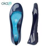 【OkaB】TAYLOR經典款亮面娃娃鞋/包鞋 藍色(k0524TA-DBU)