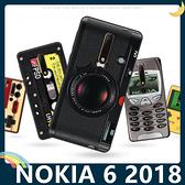 NOKIA 6.1 2018版 復古偽裝保護套 軟殼 懷舊彩繪 可愛塗鴉 鍵盤 錄音帶 矽膠套 手機套 手機殼 諾基亞