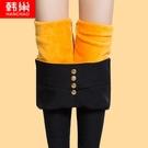 內搭褲 打底褲女褲秋冬季 韓版高腰小腳鉛筆 外穿加厚加絨保暖棉褲  店慶降價