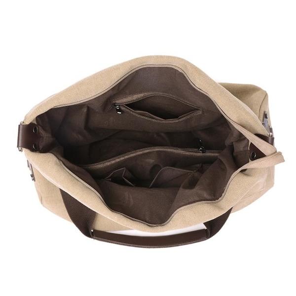 斜背帆布包 休閒文藝單肩斜跨包 手提托特大包《小師妹》f562